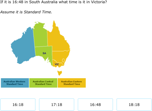 IXL - Time zones - 24-hour time (Year 5 maths practice)