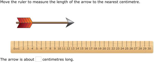 ixl measure using a centimetre ruler year 2 maths practice