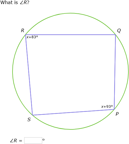 IXL - Angles in inscribed quadrilaterals (Year 11 maths ...